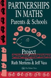 Partnership In Maths: Parents And Schools by Ruth Merttens