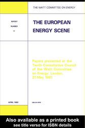 The European Energy Scene by Watt Committee on Energy Publications