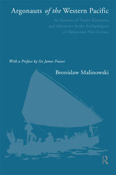 Argonauts of the Western Pacific by Bronislaw Malinowski