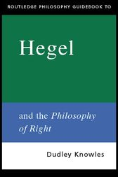 Routledge Philosophy GuideBook to Hegel and the Philosophy