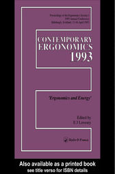 Contemporary Ergonomics 1993 by E. J. Lovesay