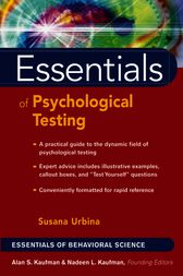 Essentials of Psychological Testing by Susana Urbina