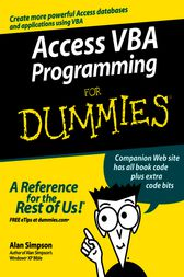 Access VBA Programming For Dummies by Alan Simpson