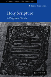 Holy Scripture by John Webster
