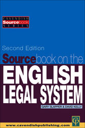 Sourcebook on English Legal System by David Kelly
