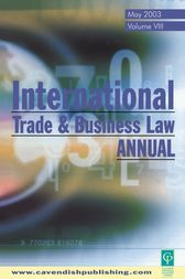 International Trade & Business Law Annual Vol VIII