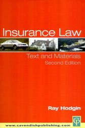 Insurance Law by Ray Hodgin