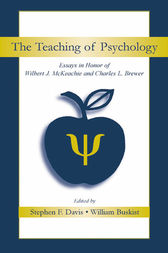 The Teaching of Psychology by Stephen F. Davis