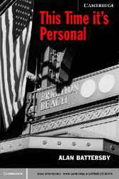 This Time It's Personal by Alan Battersby