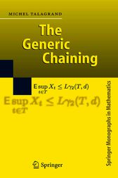 The Generic Chaining by Michel Talagrand
