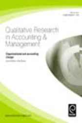 Organizational and accounting change