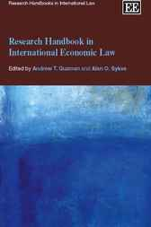 Research Handbook in International Economic Law