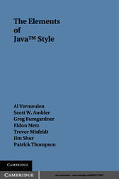 The Elements of Java™ Style by Allan Vermeulen