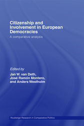 Citizenship and Involvement in European Democracies by Jan W. Van Deth