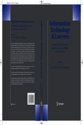 Information Technology and Lawyers by Arno R. Lodder