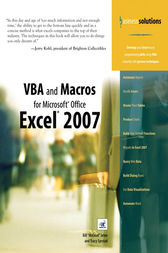 VBA and Macros for Microsoft Office Excel 2007 (Adobe Reader) by Bill Jelen