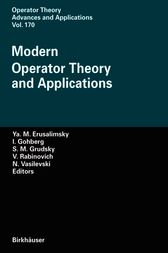 Modern Operator Theory and Applications