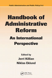 Handbook of Administrative Reform by Jerri Killian