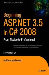 Beginning ASP.NET 3.5 in C# 2008 by Matthew MacDonald