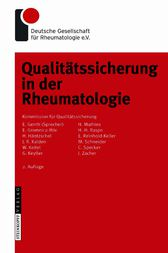 Qualitätssicherung in der Rheumatologie (German Edition)