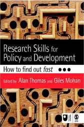 Research Skills for Policy and Development by Alan Thomas