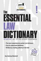 Essential Law Dictionary by Amy Blackwell