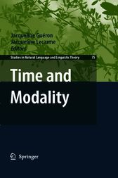 Time and Modality by Jacqueline Gueron