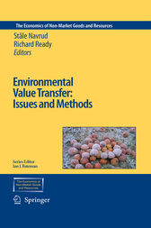 Environmental Value Transfer: Issues and Methods by Ståle Navrud