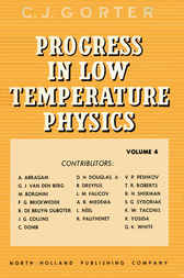 Progress in Low Temperature Physics by C J Corter