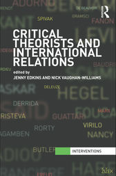 Critical Theorists and International Relations by Jenny Edkins