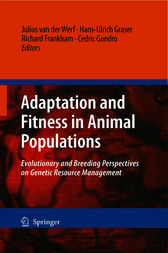 Adaptation and Fitness in Animal Populations by Julius van der Werf