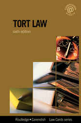 Tort Lawcards 6/e by Routledge
