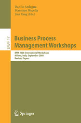 Business Process Management Workshops by Will Aalst