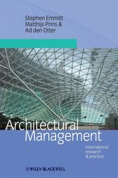 Architectural Management by Stephen Emmitt