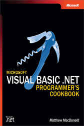 Microsoft® Visual Basic® .NET Programmers Cookbook