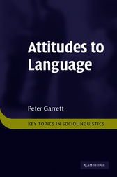 Attitudes to Language by Peter Garrett