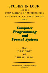 Computer Programming and Formal Systems by Lev D. Beklemishev