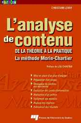 L' analyse de contenu by Christian Leray