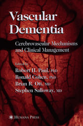 Vascular Dementia by Robert H. Paul