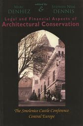 Legal & Financial Aspects of Architectural Conservation