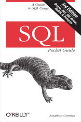 SQL Pocket Guide by Jonathan Gennick