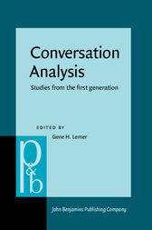 Conversation Analysis by Gene H. Lerner