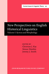 New Perspectives on English Historical Linguistics by Christian J. Kay