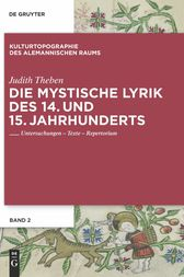 Die mystische Lyrik des 14. und 15. Jahrhunderts