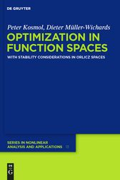 Optimization in Function Spaces by Peter Kosmol
