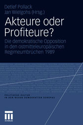 Akteure oder Profiteure? by Jan Wielgohs