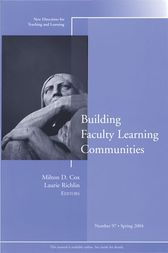 Building Faculty Learning Communities by Milton D. Cox