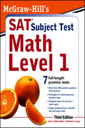 McGraw-Hill's SAT Subject Test Math Level 1, 3rd Edition by John Diehl
