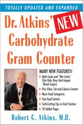 Dr. Atkins' New Carbohydrate Gram Counter by M.D. Atkins