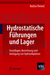 Hydrostatische F&#252;hrungen und Lager